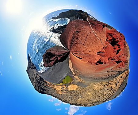 """Little Planet"", 360° Panorama, El Golfo, Lanzarote, April 2009"
